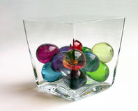 Bolas del baño en un envase, torcido fotos de archivo