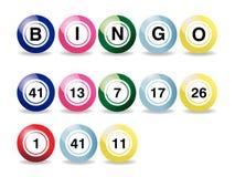 Bolas del bingo Imágenes de archivo libres de regalías