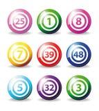 Bolas del bingo Imagen de archivo