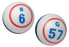 Bolas del bingo Imagen de archivo libre de regalías