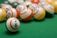 Bolas del bingo Fotos de archivo libres de regalías
