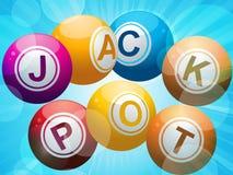 Bolas del bingo de la lotería del bote Fotografía de archivo libre de regalías