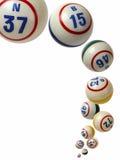 Bolas del bingo que caen Foto de archivo