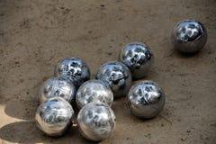 Bolas (del bocce que ruedan) fotografía de archivo libre de regalías