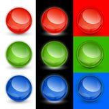 Bolas del botón del vector, muestras Foto de archivo libre de regalías