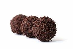 Bolas del chocolate Fotografía de archivo