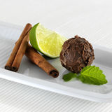 Bolas del chocolate Foto de archivo libre de regalías