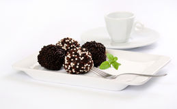 Bolas del chocolate Foto de archivo