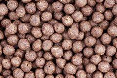 Bolas del chocolate del cereal Foto de archivo libre de regalías