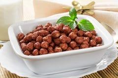 Bolas del chocolate del cereal Imagen de archivo