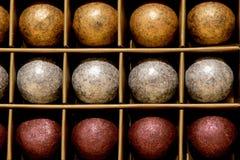 Bolas del color del chocolate Fotografía de archivo