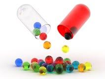 Bolas del color en el fondo blanco Foto de archivo libre de regalías