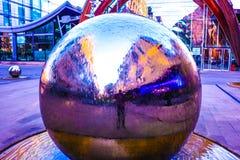bolas del cromo 3D Foto de archivo libre de regalías