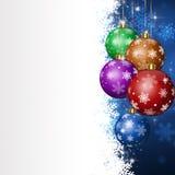Bolas del día de fiesta de Navidad Fotografía de archivo