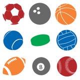 Bolas del deporte Foto de archivo libre de regalías