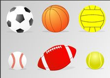 Bolas del deporte Imagenes de archivo