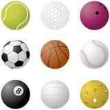 Bolas del deporte Fotos de archivo libres de regalías