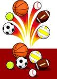 Bolas del deporte Fotografía de archivo
