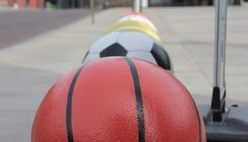 Bolas del deporte Imágenes de archivo libres de regalías