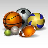 Bolas 2 del deporte Foto de archivo