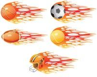 Bolas del deporte Foto de archivo