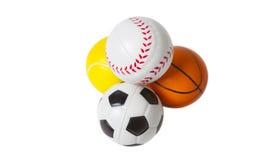Bolas del deporte del juguete Foto de archivo libre de regalías