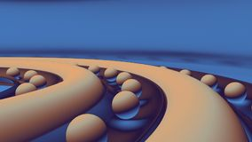bolas del extracto 3d almacen de metraje de vídeo