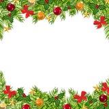 Bolas del fondo, regalos de la Navidad y estrellas Fotos de archivo libres de regalías