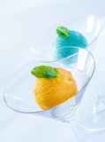 Bolas del helado italiano colorido Fotografía de archivo