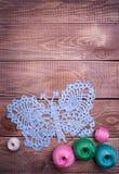 Bolas del hilado coloreado Imagen de archivo libre de regalías
