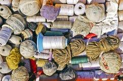 Bolas del hilo del algodón Imagen de archivo libre de regalías