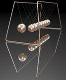 Bolas del neutonio del oro Fotos de archivo libres de regalías