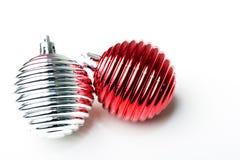 Bolas del ornamento de la decoración del Año Nuevo de la Navidad fotografía de archivo libre de regalías