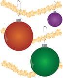 Bolas del ornamento de la Navidad Imagenes de archivo