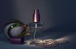 Bolas del perfume y de la Navidad Imagenes de archivo