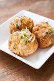 Bolas del pulpo de Takoyaki - comida japonesa fotografía de archivo libre de regalías