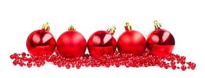 Bolas del rojo de la Navidad Imagen de archivo