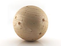 Bolas del rompecabezas de madera Imagen de archivo libre de regalías