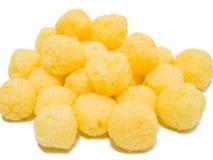 Bolas del soplo del queso. Imagenes de archivo