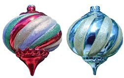 Bolas del tre de la Navidad Fotografía de archivo libre de regalías