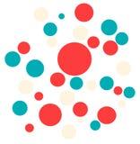 Bolas dinâmicas pequenas grandes coloridas brilhantes no fundo branco ilustração stock