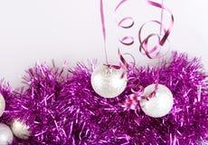 Bolas do ano novo Foto de Stock Royalty Free