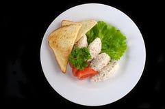 Bolas do arroz e da carne de caranguejo Fotografia de Stock