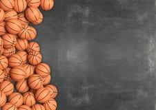 Bolas do basquetebol no fundo do quadro ilustração stock