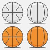 Bolas do basquetebol para seu Team Logo Fotografia de Stock