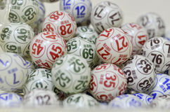 Bolas do Bingo Fotografia de Stock