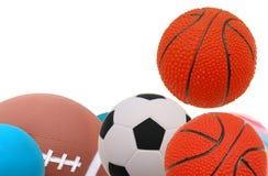 Bolas do esporte Fotografia de Stock