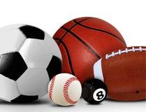 Bolas do esporte e do lazer Imagem de Stock Royalty Free