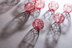 Bolas do fio ajustadas Foto de Stock