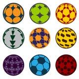 bolas do futebol e de futebol ilustração royalty free